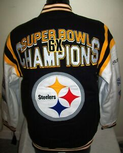 PITTSBURGH STEELERS 6 Time Super Bowl CHAMPIONSHIP Jacket  M L  2020