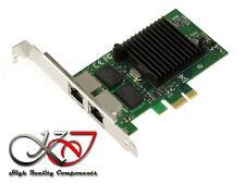 Carte réseau PCIe 2 Ports Dual GIGABIT ETHERNET - INTEL I82575  Low High Profile