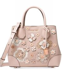 New michael kors Mercer Gallery small floral soft pink gold whimsical bag tote