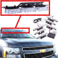 54 LED Emergency Vehicle Strobe Lights/Lightbars Deck Dash Grille -Amber & White
