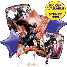 STAR WARS PARTY SUPPLIES DARTH VADER JUMBO 5pc FOIL BALLOONS BOUQUET DECORATIONS