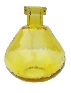 Yellow Glass Bottle / Vase, Vase for Living Room, Home Decoration, Christmas