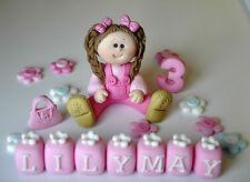 edible handmade birthday girl/toddler princess cake topper name  decoration