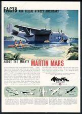 1944 Martin Mars US Navy plane South Pacific art vintage print ad