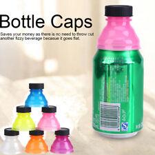 6x Snappy Caps Snap Bottle Top Can Covers Fizz Coke Drink Soda Lid Cap Reuse LJ