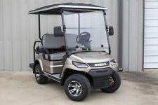 NEW 2021 Champagne / Gray 48V Electric Golf Cart 4  Passenger Disc Breaks