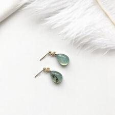 Fashion Simple Retro Amber Water Droplets Dangle Earrings for Women Jewelry Green
