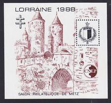 BLOC CNEP N°  9 ** LORRAINE 1988, NEUF LUXE