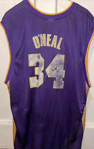 Shaquille O'Neal Los Angeles Lakers Purple Gold  Jersey Reebok 2002 Men's XXL