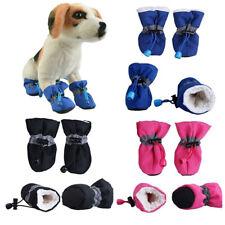4Pcs Winter Pet Dog Shoes Anti-slip Rain Snow Boots Puppy Sock Booties Protect