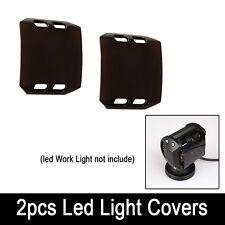 """2pcs Black Lens Cover For 4"""" INCH CREE 18W Led Work Light Bar Fog ATV Off-Road"""