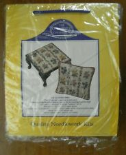 Coleshill Collection Garden Posy Needlepoint Kit Wool Yarn Stool Top Cushion