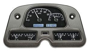 1962-84 Toyota FJ Land Cruiser Dakota Digital Black Alloy White VHX Gauge Dash