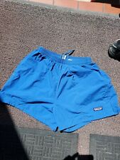 Rare Vintage 90s Patagonia Baggies medium Shorts blue.