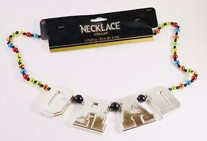 Graduation Beads Necklace Mardi Gras Multi Color Party Collar Celebration Prop