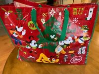 Mickey & Minnie Mouse Friends Decor Christmas Tree XL Bag/Tote NWT Disney Store