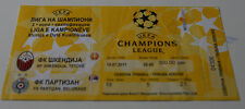 Ticket for collectors CL Shkendija Tetovo Partizan Beograd 2011 Macedonia Serbia