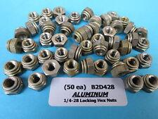 1/4-28 Aluminum Aircraft Locking Nuts SPS Technologies B2D428 / NAS1021H4 (50)