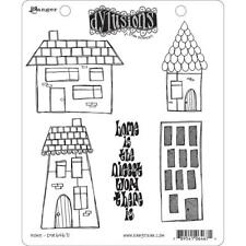 Home Stamp Set Dylusions Dyan Reaveley DYR64671 5 Rubber STAMPS