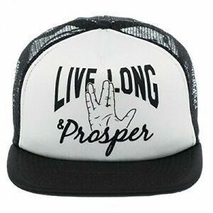 Star Trek Spock Live Long and Prosper Adjustable Snapback Cap Hat
