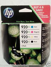 GENUINE HP 920XL Black Cyan Magenta Yellow Ink Cartridges 6000 6500 7000 7500