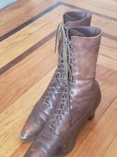 Beautiful, Rare,Antique Victorian / Edwardian Womens Leather Shoes/Boots Western