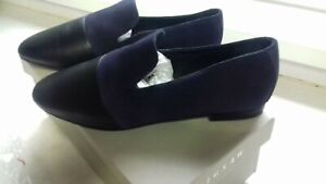 YURI CONTRAST NAVY BLUE SHOES BY JIGSAW. BRAND NEW IN BOX. SIZE UK 5.COST £98
