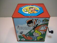 Vtg Mother Goose Jack-in-the Box - Pop Goes the Weasel Music- A Carnival Product