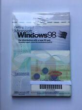 Genuine OEM Sony PC Getting Started Microsoft Windows 98 w/ COA - NEW/SEALED