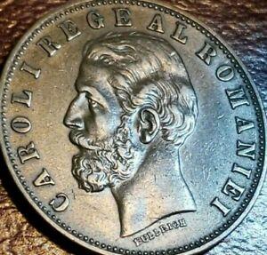 Romania - UNC> - 1884 - 5 Bani - Bronze - Carol I - KM #19