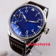 Vintage 44mm men's watch Luminous Asia 6497 hand winding movement wrist watch