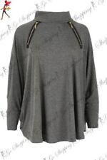 Camisas y tops de mujer de manga larga sin marca color principal gris