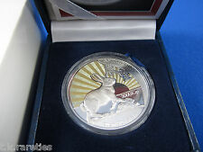 1999 LAO (Laos) silver proof coin in box + COA. LUMINOUS RABBIT. Small mintage