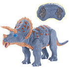 Dino Planet Remote Control RC Walking Dinosaur Toy with Shaking Triceratops