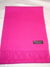 100% Cashmere Scarf Soft 72X12 Solid Hot Pink Made in Scotland Wool Women Wrap