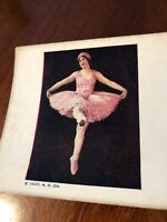 Vintage Ballerina 1925 A.C. Co Stereoview Card