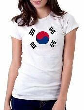 South Korea Flag White T-Shirt Womens Tshirt Tee