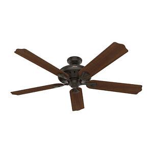 Hunter Fan Company Royal Oak 60 Inch Classic Indoor Ceiling Fan, New Bronze