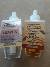 LOT 2 - (1) Bath & Body Works LEAVES  refill bulb and (1) Caramel Pumpkin Swirl