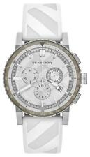 NWT Burberry White/Gray The City Chronograph Sport Watch $700