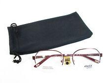 Safilo Elasta Stainless Steel Eyeglass Frames 4849 0JSH Rose / Burgundy Rx-able
