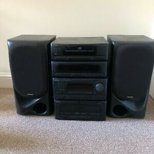 KENWOOD Hi-fi Stereo Stacking System Separate Components With Speakers Working