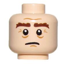 LEGO NEW LIGHT FLESH MINIFIGURE HEAD DUAL SIDED WITH BUSHY EYEBROWS