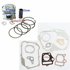 47MM Gasket Piston Ring Set For 70cc Dirt Pit Bike Motorcycle Modified Engine