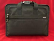 Tumi Black Slim Briefcase Ballistic Large Laptop Portfolio 15 Fits MBP 16