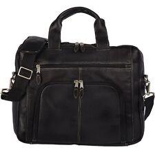 *NEW* BUGATTI SCOTTSDALE EXPANDABLE BRIEF CASE - Black Leather - EXC1144