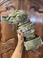Flamme Sculpture XVIII-XIXeme Épi de Faîtage Jardin Pierre Ancienne