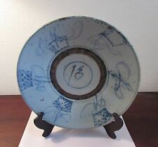 Antique Chinese blue and white kitchen Qing dish bowl