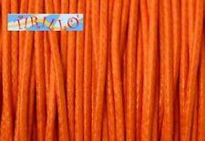 BIGIOTTERIA PERLINE - 20 metri filo cerato arancio -0,5mm