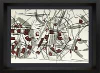 Jean-Paul RIOPELLE Original COLOR Lithograph LIMITED Ed. 56x38cm  +FRAME